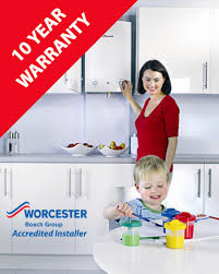 10-year guarantee for using a Worcester Bosch accredited installer