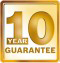 10 year guarantee logo