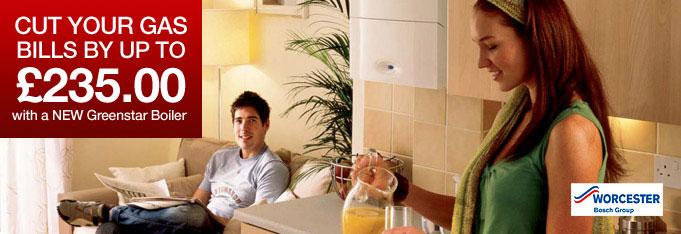 Cut your gas bills by installing a Greenstar boiler
