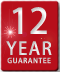 12 year guarantee logo