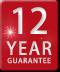 12 year guarantee logo