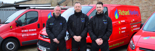 Richard Harding  Plumbing and Heating - our engineers and our distinctive red and black vans serving the Worthing region
